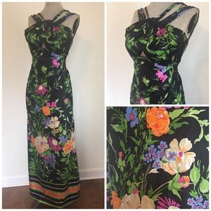 Dresses & Skirts - True Vintage Tropical Tease Summer Maxi S M
